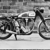 Gordon Sutcliffe's International Norton bike - taken 1954