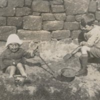 Postcard marked Play at Horshold - Sand Pies - 1930 - possibly taken by Gordon Sutcliffe's mother.jpg
