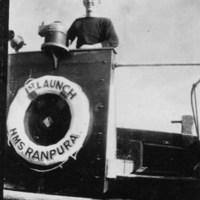 Gordon Sutcliffe aboard HMS Ranpura