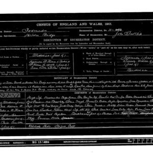 1901 census-Blackshaw-enumeration district 31_description.tif