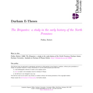The Brigantes a study in the early history of the North.pdf